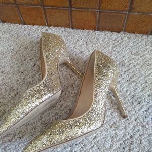 Boutique 9 Size 7.5 Gold Glitter Heels